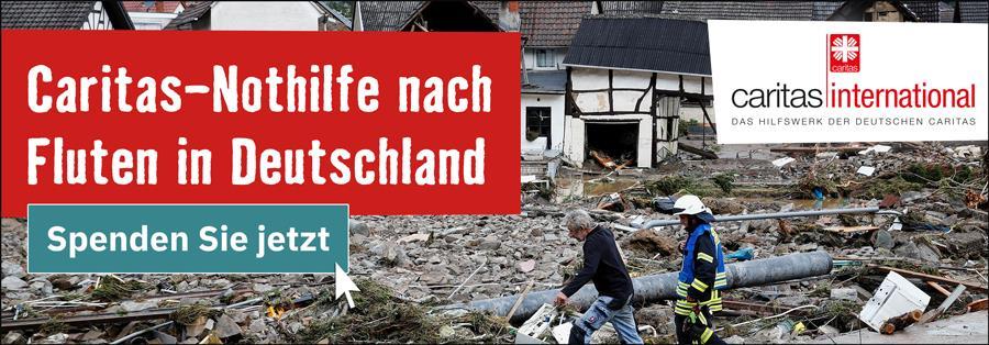 Spendenaufruf Fluten in Deutschland